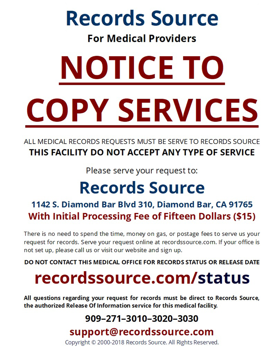 medical records source release of medical information